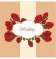 Geranium flower wedding invitation vector image vector image