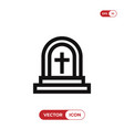 grave icon vector image vector image