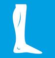 human leg icon white vector image vector image