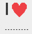I love blank vector image vector image