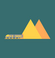 icon in flat design for airport mountain train vector image vector image