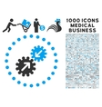 Integration Icon with 1000 Medical Business vector image