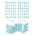 Isometric 3d type font set vector image