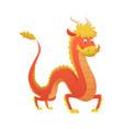 japan or china dragon cartoon cute vector image vector image