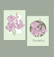 line-art orchid flowers design element vector image vector image