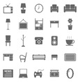 Living room icons on white background vector image vector image