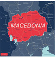 macedonia country detailed editable map vector image vector image
