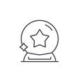 magic ball line icon concept magic ball vector image vector image