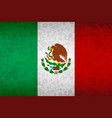 mexico flag background for russian soccer event vector image vector image