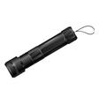 Modern metal flashlight eps10 vector image vector image
