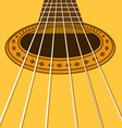 Music flyer or background with acoustic guitar vector image