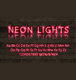 new modern neon set glowing alphabet vector image vector image