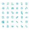 outline web icon set - pet pet shop vector image