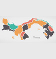 panama map with states and modern round shapes vector image