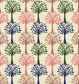 pattern with trees beige background vector image vector image