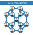 People management concept vector image vector image