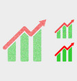 pixelated trend chart icons vector image vector image