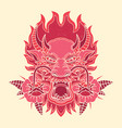 printvintage dragon tattoo design vector image