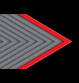 red on gray arrow pattern direction with black vector image vector image