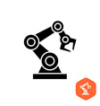 Robotic hand manipulator black silhouette symbol vector image vector image