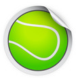 round sticker with tennis ball vector image vector image