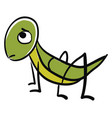 sad grasshopper on white background vector image vector image