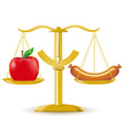 scales choice diet or obesity vector image