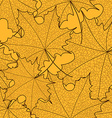 Seamless pattern of maple leaves vector image vector image