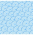 Seamless pattern with stylized blue waves surf vector image
