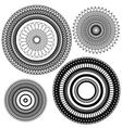 set circle 1color 4 380 vector image vector image