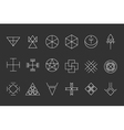 Set of geometric hipster shapes13 vector image vector image