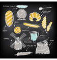 Set of vintage bakery icons Retro design vector image vector image