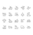 set simple icons military transport vector image