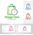 shop time logo designs vector image