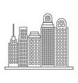 sketch contour closeup city landscape with vector image vector image