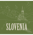 Slovenia landmarks Retro styled image vector image vector image