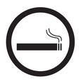 smoke area icon on white background flat style vector image vector image
