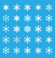 snowflake set icon in flat style snow flake vector image