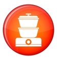 Steamer icon flat style vector image vector image