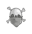 stippled funny skull vector image vector image