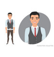 stylish young asian man in casual clothes vector image vector image