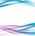 Swoosh certificate bright tech modern wave vector image vector image