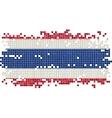 Thailand grunge tile flag vector image