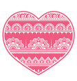 Valentines Day design - Mehndi heart Indian vector image vector image