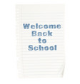 welcome back to school concept vector image