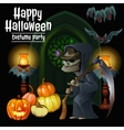 Witch party costumes for happy Halloween vector image
