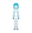 woman full body with blouse long sleeve and pants vector image vector image