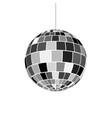 disco ball icon nightlife of 70s retro disco party vector image