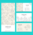 Engineering business cards flyers leaflets with vector image