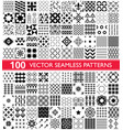 100 seamless pattern collection geometric vector image vector image